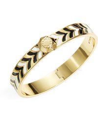 Trina Turk Enamel Chevron Bangle Bracelet - Lyst
