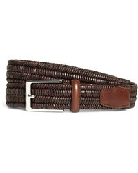 Brooks Brothers - Woven Leather Stretch Belt - Lyst