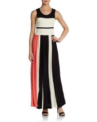 French connection Medina Striped Maxi Dress - Lyst