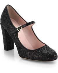 Kate Spade Angelique Glitter Mary-Jane Pumps - Lyst