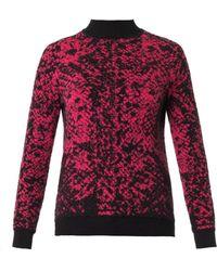 Christopher Kane Snake-Intarsia Cashmere-Knit Sweater - Lyst