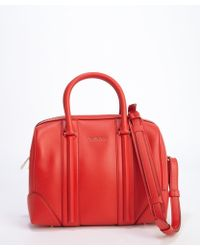 Givenchy Red Leather and Suede Lucrezia Duffel Convertible Bag - Lyst