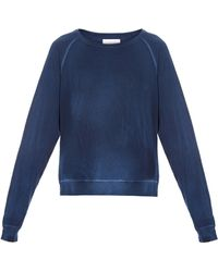 The Great The College Distressed Sweatshirt - Lyst