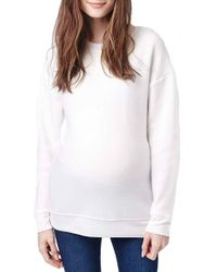 Topshop | Brushed Maternity Sweatshirt | Lyst