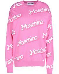 Moschino Long Sleeve Jumper - Lyst