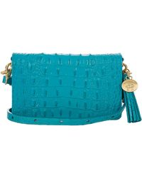 Brahmin - Amelia Embossed Leather Wristlet - Lyst