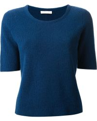 Chloé Cropped Sweater - Lyst