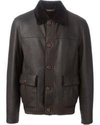Z Zegna Shearling Collar Jacket - Lyst