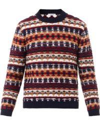 Valentino Reverse-Knit Crew-Neck Sweater - Lyst