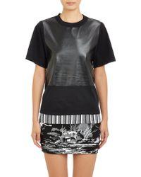 Balenciaga Black Coated Tshirt - Lyst