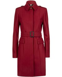 Burberry London Sunderwood Compact Virgin Wool Military Coat - Lyst