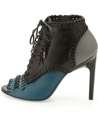 Jason Wu Laceup Whipstitch Ankle Boot - Lyst