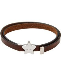 Gucci Brown Bracelet - Lyst