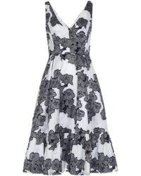 Erdem Gracie Hibiya Orchid Fil-Coupé Dress blue - Lyst