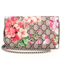 Gucci   Gg Blooms Supreme Chain Wallet   Lyst
