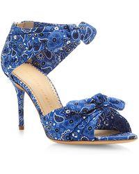 Charlotte Olympia Patty Bandana Printed Sandals - Lyst