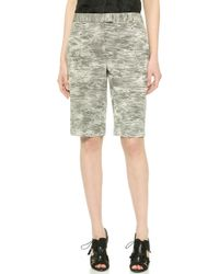 Jason Wu Abstract Stripe Jacquard Shorts - Charcoal - Lyst