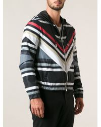 Givenchy Striped Hooded Jacket - Lyst