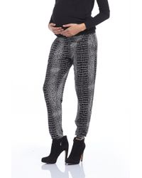 Tart Collections Liviana Maternity Pant In Alligator - Lyst