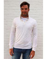 Simon Spurr White Cashmere Longsleeve Polo white - Lyst