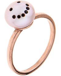 Nektar De Stagni - Smiley Face Pink-Pearl & Gold-Plated Ring - Lyst