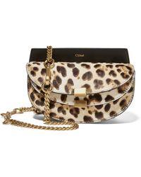 Chloé - Georgia Convertible Leopard-print Calf Hair And Leather Belt Bag - Lyst