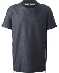 Neil Barrett Side Zip T-Shirt - Lyst