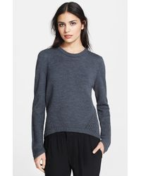 Milly  Angled Mesh Sweater - Lyst