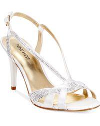 Nine West Illona Mid-Heel Evening Sandals - Lyst