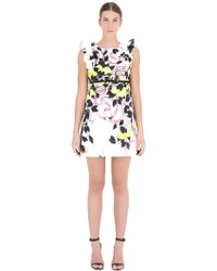 Giamba Printed Jacquard Dress multicolor - Lyst