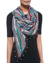 Diane von Furstenberg New Bubsy Striped Bandana Scarf - Lyst