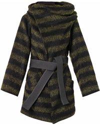 Vivienne Westwood Anglomania Talik Striped Woolblend Coat - Lyst