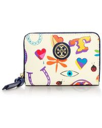 Tory Burch Kerrington Zip Coin Case - Lyst
