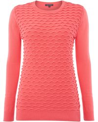 Pied a Terre   Textured Front Jumper   Lyst