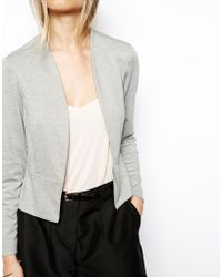 Asos Blazer In Ponte With Peplum gray - Lyst