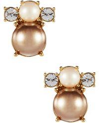 Kate Spade Parlour Pearls Stud Earrings - Lyst