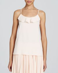 Kate Spade Ruffle Front Camisole pink - Lyst