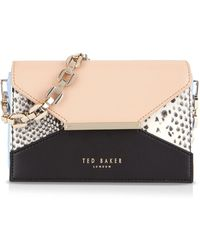 Ted Baker Shoulder Bag - Raaine Textured Colorblock - Lyst