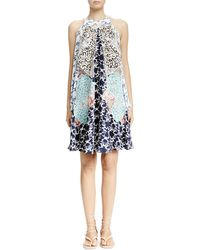 Stella McCartney Cloud-Embroidered Multilayered Halter Dress - Lyst
