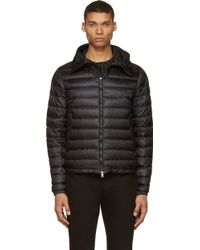 Moncler Black Quilted Down Dijon Jacket - Lyst