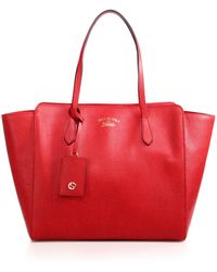 Gucci | Swing Medium Leather Tote | Lyst
