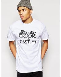 Crooks and Castles - T-Shirt With Skeleton Text - Lyst