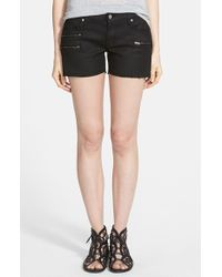 James Jeans Slouchy Zip Shorts - Lyst
