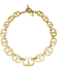 Michael Kors Golden Maritime Link Necklace - Lyst