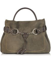 Buti Brown Taupe Suede And Leather Satchel Bag Lyst