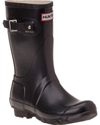 Hunter Original Short Black Rain Boot black - Lyst