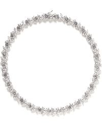 Cz By Kenneth Jay Lane Navette Cut Cubic Zirconia Necklace - Lyst