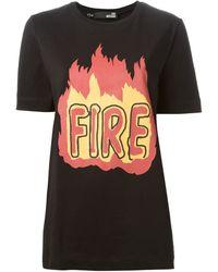 Love Moschino Fire Print T-Shirt - Lyst