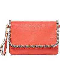 Dune Erica Jewel-Trimmed Clutch Bag Bag - For Women red - Lyst