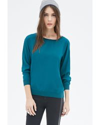 Forever 21 Chiffon Pullover - Lyst
